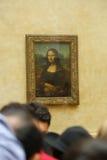 Mona Lisa al museo Parigi del Louvre Fotografie Stock Libere da Diritti