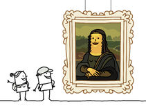 Mona Lisa cartoon Stock Photography