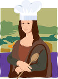 Mona Lisa Chef Stock Photos