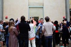 Mona Lisa en el Musee Du Louvre Imágenes de archivo libres de regalías