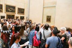 Mona Lisa - en el museo del Louvre Imagen de archivo