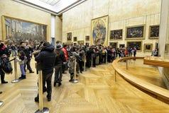 Mona Lisa en Louvre del museo Imágenes de archivo libres de regalías