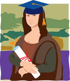 Mona Lisa Graduate Royalty Free Stock Photography