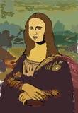 Mona Lisa royalty free illustration