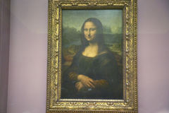 Mona Lisa by Leonardo Da Vince at the Louvre Museum, Paris, France Stock Photography