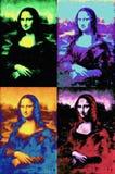 Mona Lisa of Leonardo da Vinci painting in pop art style stock images
