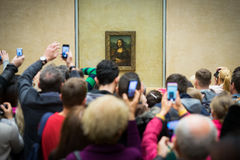 Mona Lisa in the Louvre Museum Stock Images
