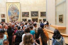 Mona Lisa - louvre muzeum, Paryż obraz royalty free