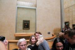 Mona Lisa - Louvremuseum, Paris arkivbilder