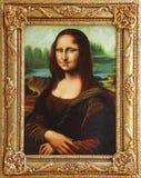 Mona Lisa med ramen arkivfoto