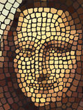 Mona Lisa portrait mosaic art Stock Photo