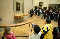 Mona Lisa in Musée du Louvre, Parijs Stock Foto