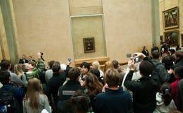 Mona Lisa in Musée du Louvre, Parijs Stock Foto's