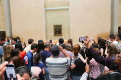 Mona Lisa - museu do Louvre, Paris fotos de stock royalty free
