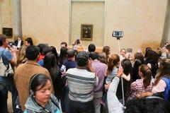 Mona Lisa - museu do Louvre, Paris Imagens de Stock