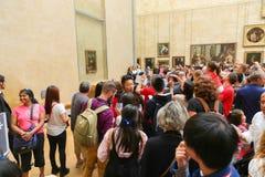 Mona Lisa - museu do Louvre, Paris Foto de Stock