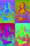 Mona lisa pop art style Royalty Free Stock Photo