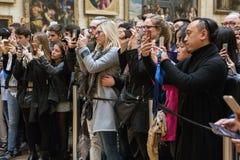 Mona Lisa-portret bij het Louvremuseum Stock Fotografie