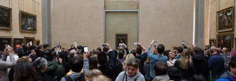Mona Lisa-portret bij het Louvremuseum Royalty-vrije Stock Afbeeldingen