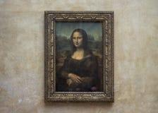 Mona Lisa przy louvre muzeum bez turyst?w zdjęcie stock