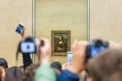 Mona Lisa w louvre muzeum fotografia royalty free