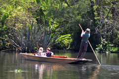 Mona Vale - Punting On The Avon, Christchurch Royalty Free Stock Photos