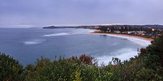 Mona Vale Rock Pool Dist panorama Royalty Free Stock Photos