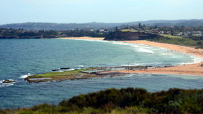 Mona Vale rock pool in a distant panoramic view Stock Images