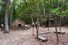 Monacan Indian Settlement Exhibit - Natural Bridge State Park, Virginia, USA. Natural Bridge State Park, Rockbridge County, VA – September 26TH: A living Royalty Free Stock Image