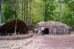 Monacan Indian Settlement Exhibit - Natural Bridge State Park, Virginia, USA. Natural Bridge State Park, Rockbridge County, VA – September 26TH: A living Royalty Free Stock Photos