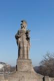 MONACHIUM †'STYCZEŃ 28: Maximilian most nad Isar rzeką w Monachium Zdjęcie Stock