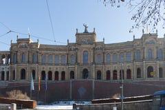 MONACHIUM †'STYCZEŃ 28: Maximilianeum - Bawarski stanu parlament w Obraz Stock