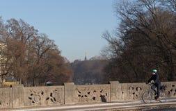 MONACHIUM †'STYCZEŃ 28: Widok na aniele pokój - Friedensengel Zdjęcie Royalty Free