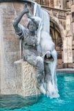 MONACHIUM, BAVARIA, NIEMCY, Luty 28th, 2018 - statua z ryba obrazy stock