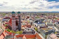 Monachium Frauenkirche panorama obrazy royalty free