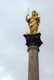 MONACHIUM, GERMANY/EUROPE - WRZESIEŃ 25: St Marys kolumna w Munic zdjęcie royalty free