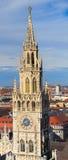 Monachium, Gocki urząd miasta przy Marienplatz, Bavaria Fotografia Stock