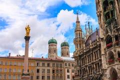 Monachium grodzki centre, Niemcy Obrazy Royalty Free