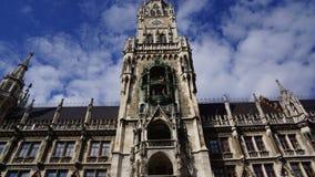 Monachium Marienplatz Bavaria Nowy urząd miasta obraz stock