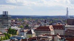 Monachium Marienplatz Bavaria urząd miasta Nowy widok zdjęcie stock
