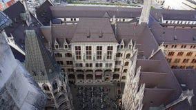 Monachium Marienplatz Bavaria urząd miasta Nowy widok obrazy stock