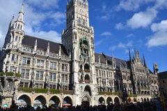Monachium, Neues - Rathaus w Marienplatz Zdjęcia Stock