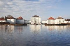 Nymphenburg pałac. Monachium. Obrazy Royalty Free