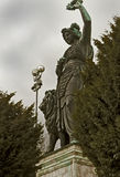 Monachium, Niemcy - Kolosalna brąz statua 1850 Bavaria Obrazy Stock