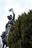 Monachium, Niemcy - Kolosalna klasyczna brąz statua Bavaria (1850) Zdjęcia Stock