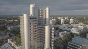 Monachium, Niemcy - 17/10/2017: kwatery główne HypoVereinsbank HVB wierza zdjęcie wideo