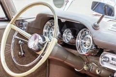 Monachium, Niemcy, 23 2016 Lipiec: Amerykański mięśnia samochód, stary samochodowy inte Fotografia Stock