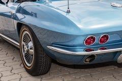 Monachium, Niemcy, 23 2016 Lipiec: Tylni szczegół USA rocznika samochód Obraz Royalty Free