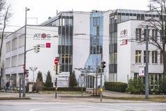 Monachium Niemcy, Luty, - 16 2018: Atos kliniki zrobią up kliniki w Heidelberg, Braunfels, Monachium i Kolonia, zdjęcia royalty free