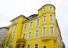 Monachium Niemcy, Maj, - 03, 2017: Fasada Krone Hotelowy budynek Zdjęcia Royalty Free